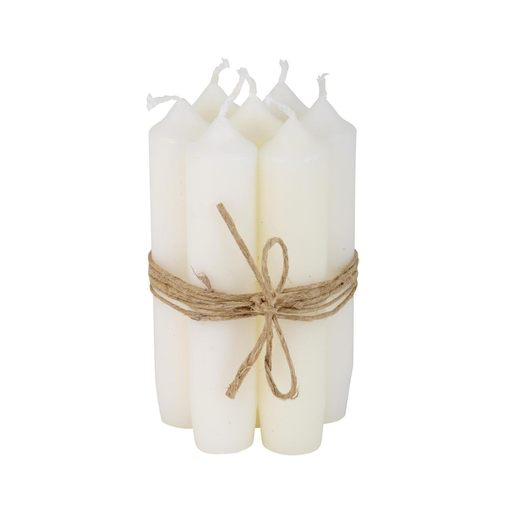 Short White Candles (Bundle of 6)