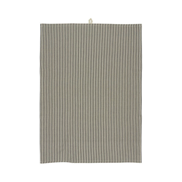 Striped Tea Towel - Beige & Black