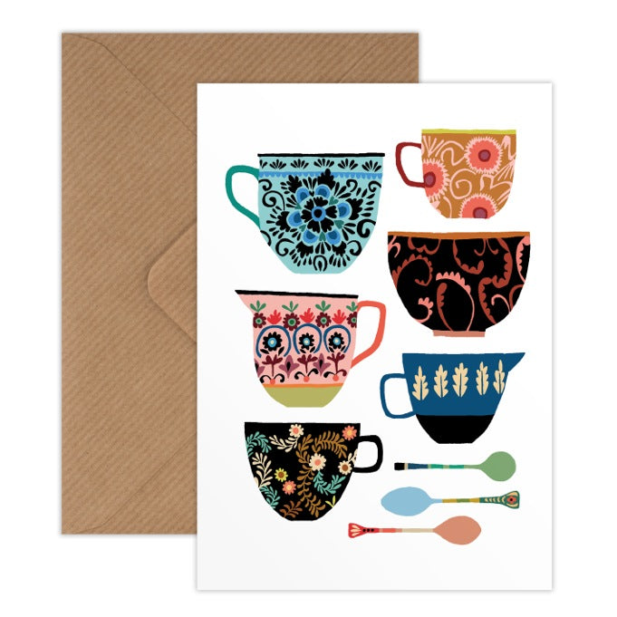 Folk Collection Greetings Card