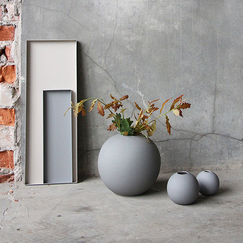 Cooee Ball Vase, 8cm - Grey