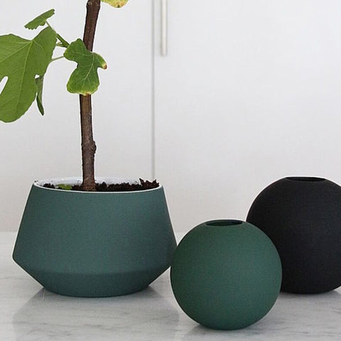 Cooee Ball Vase, 8cm - Dark Green