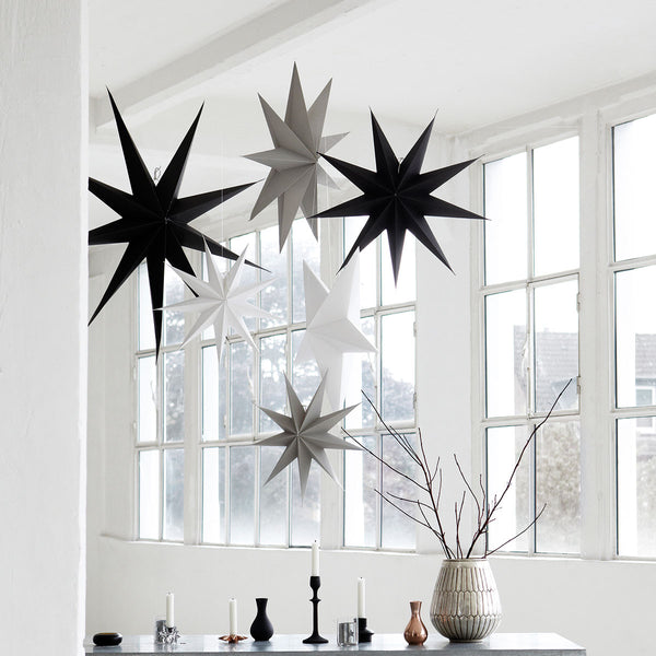 Star Paper Decoration - Dark Grey