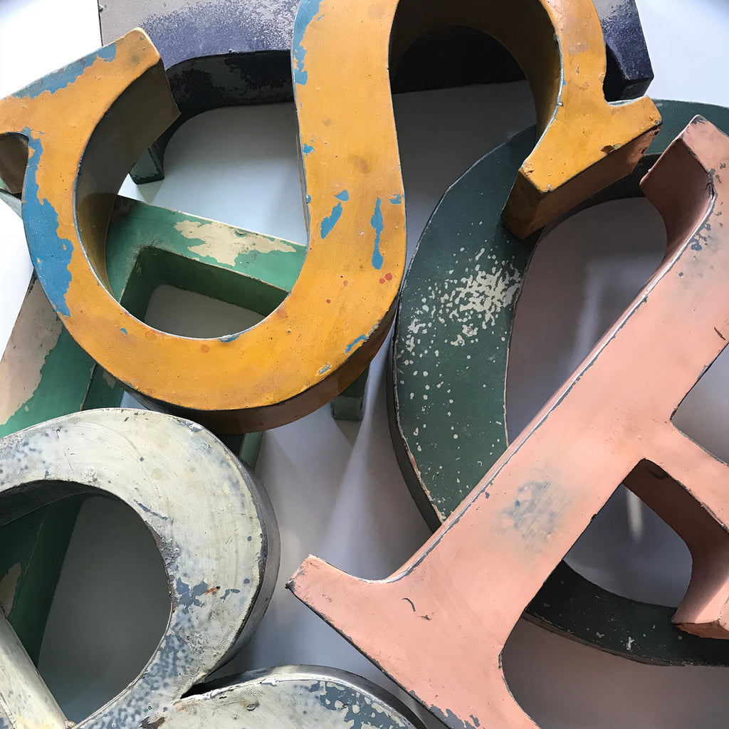 French Metal Letters - Large