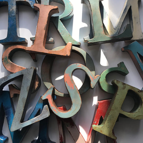 French Metal Letters - Medium