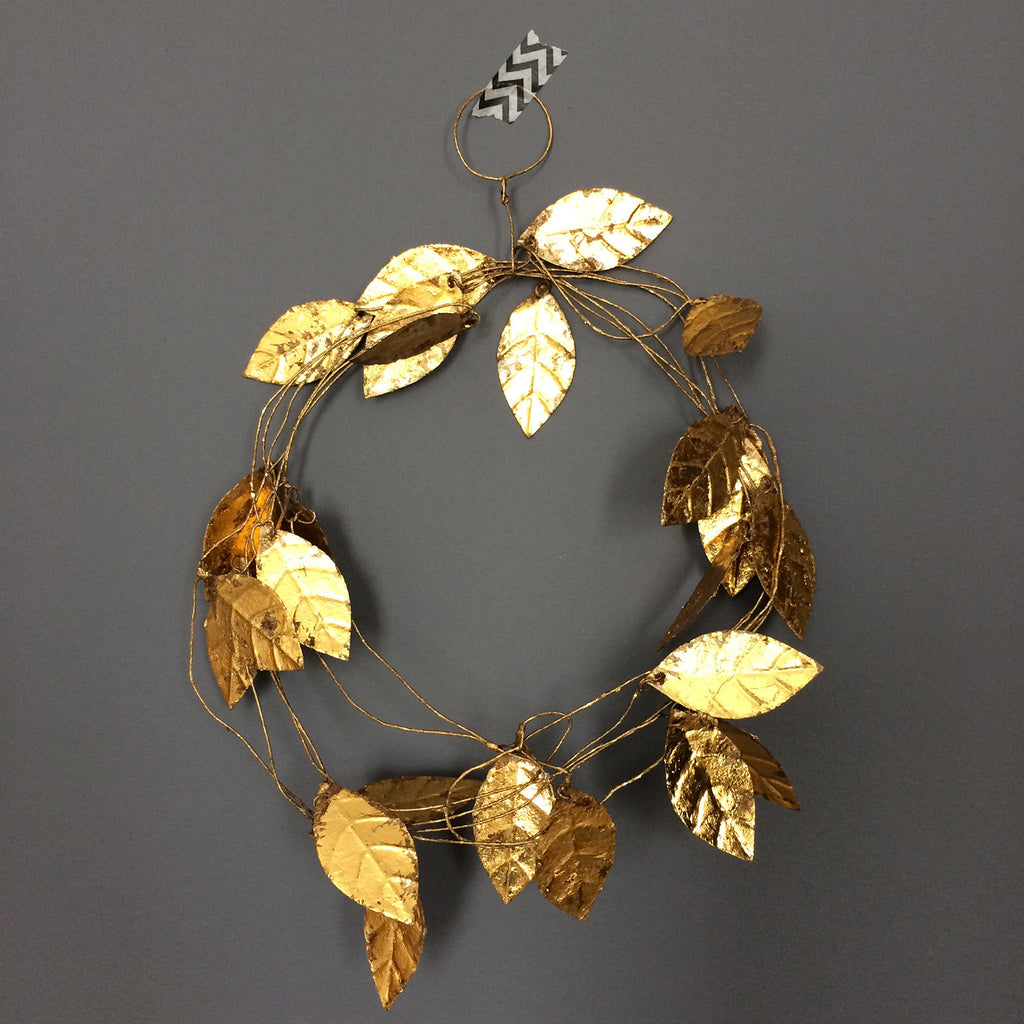 Fog Linen Gold Leaf Garland - Large