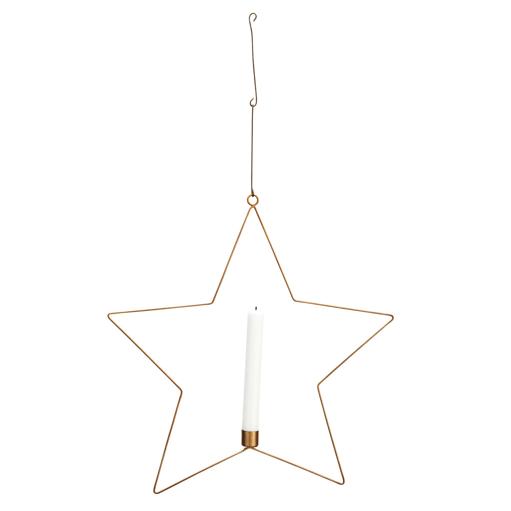 Brass Star with Candle holder
