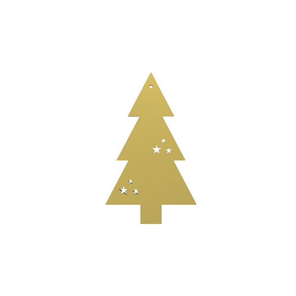 Cooee Tree Hanging Decoration - Brass