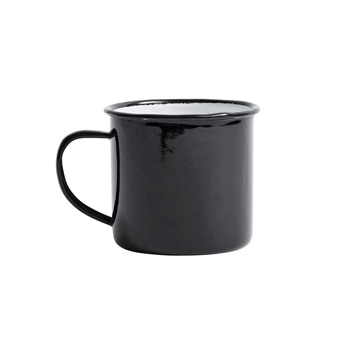 Danish Enamel Mug, Black