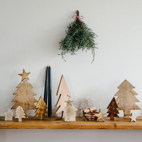 Fog Linen Wooden Tree - Small / Large