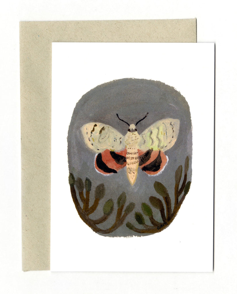 Red Underwing Moth Card