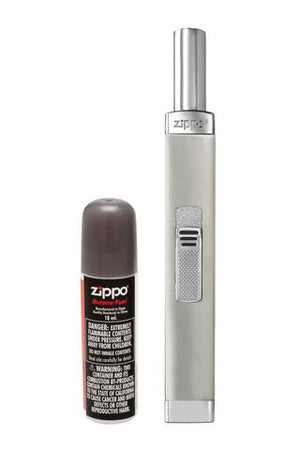 Zippo Chrome Candle Lighter with Butane Canister