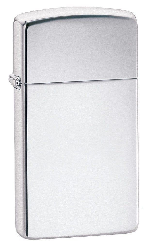 Zippo Lighter - Slim High Polish Chrome - Lighter USA
