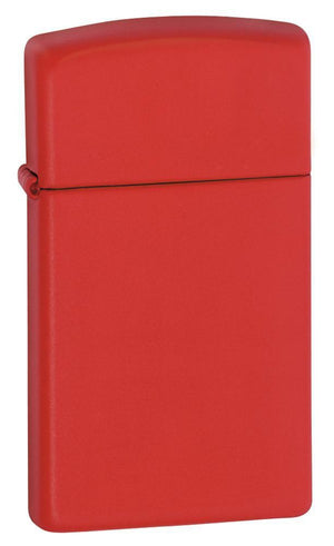 Zippo Lighter - Slim Red Matte