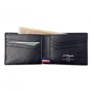 S.T. Dupont Wallet w/ 6 Credit Card Holders - Carbon Fiber Leather - Lighter USA