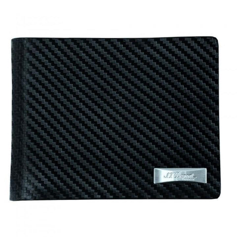 S.T. Dupont Wallet w/ 6 Credit Card Holders - Carbon Fiber Leather - Lighter USA - 1