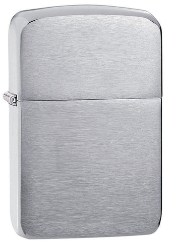 Zippo Lighter - 1941 Replica Brushed Chrome - Lighter USA