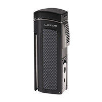 Lotus Dominator Quad Torch Table Lighter - Black Matte