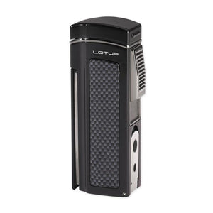 Lotus Dominator Quad Torch Table Lighter - Black Matte - Lighter USA