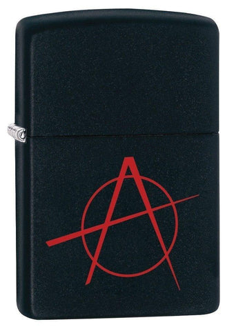 Zippo Lighter - Anarchy Black Matte - Lighter USA