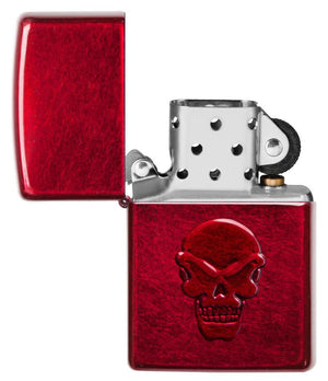 Zippo Lighter - Candy Apple Red Doom - Lighter USA