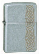 Zippo Lighter - Distressed Knot Street Chrome