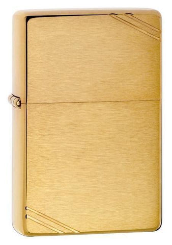 Zippo Lighter - Vintage Brushed Brass - Lighter USA