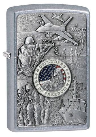 Zippo Lighter - Joined Forces Street Chrome - Lighter USA