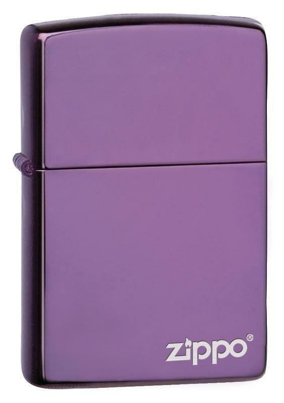 Zippo Lighter - Abyss Purple with Zippo Logo - Lighter USA