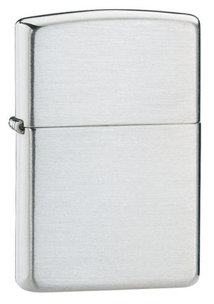 Zippo Lighter - Armor Brushed Sterling Silver