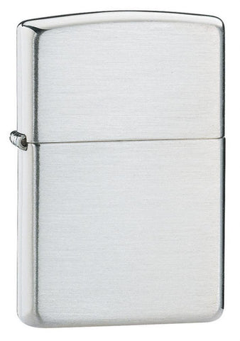 Zippo Lighter - Armor Brushed Sterling Silver - Lighter USA