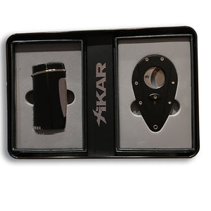Xikar X1 Black Cutter & Executive Black Lighter Gift Set - Lighter USA