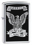 Zippo Lighter - Right to Keep & Bear Arms High Polish Chrome - Lighter USA - 1
