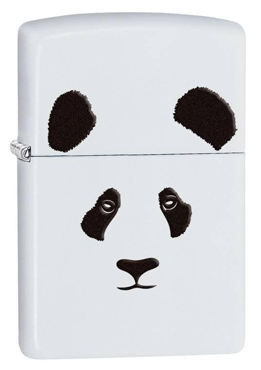 Zippo Lighter - Panda White Matte - Lighter USA
