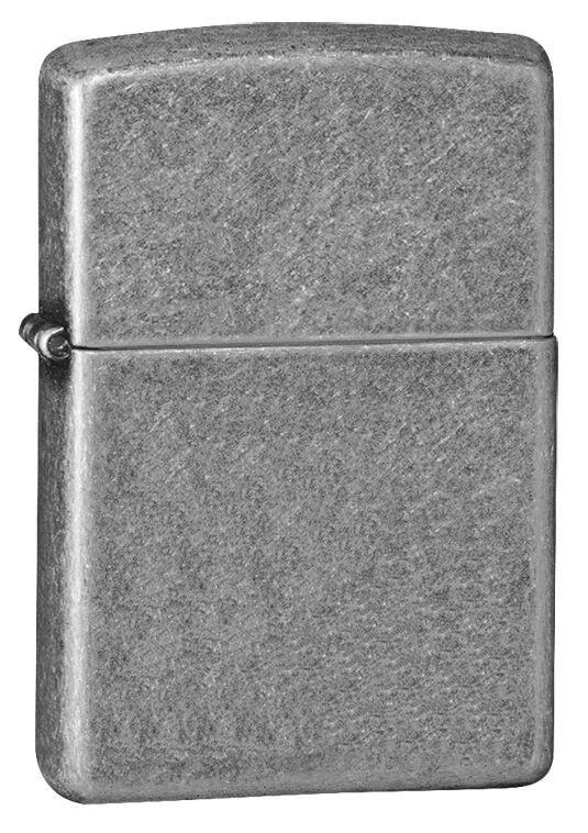 Zippo Lighter - Armor/Antique Silver Plate - Lighter USA