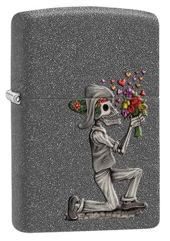 Zippo Lighter - Day of the Dead Iron Stone - Lighter USA - 1