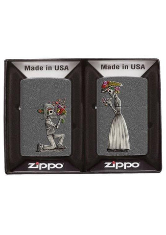 Zippo Lighter - Day of the Dead Iron Stone - Lighter USA - 3