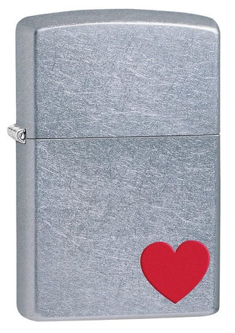 Zippo Lighter - Classic Love Satin Chrome - Lighter USA - 1