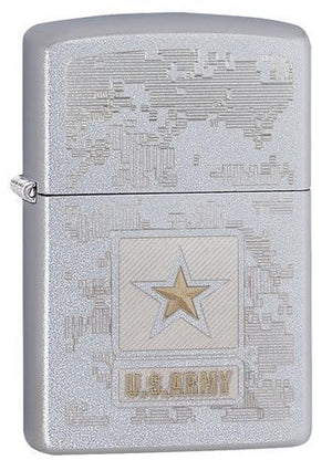 Zippo Lighter - US Army Satin Chrome