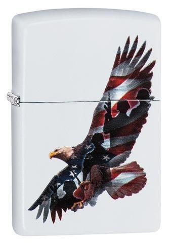Zippo Lighter - Eagle White Matte