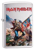 Zippo Lighter - Iron Maiden Brushed Chrome Lighter Zippo - Lighter USA