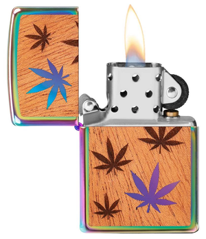 Zippo Lighter - WOODCHUCK USA Leaves - Lighter USA