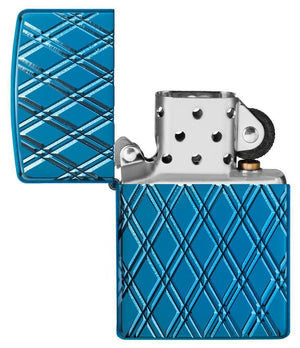 Zippo Lighter - Armor® High Polish Blue Diamonds