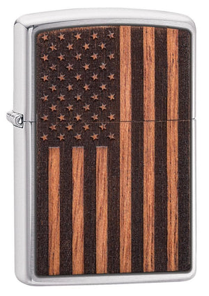 Zippo Lighter - WOODCHUCK USA American Flag
