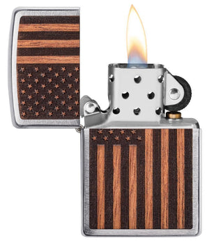 Zippo Lighter - WOODCHUCK USA American Flag - Lighter USA