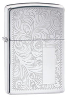 Zippo Lighter - Venetian High Polish Chrome - Lighter USA