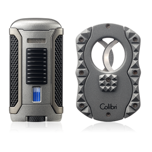 Colibri Apex Lighter & Quasar Cigar Cutter Gift Set - Lighter USA