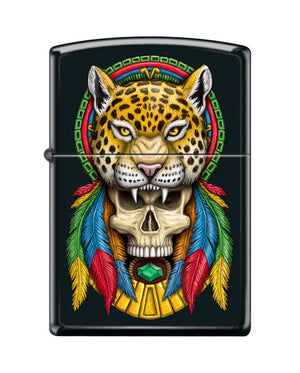 Zippo Lighter - Headdress Cheetah Skull