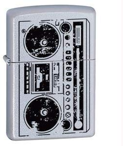 Zippo Lighter - Boombox Satin Chrome