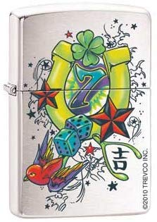 Zippo Lighter - As Luck Would Have It - Lighter USA