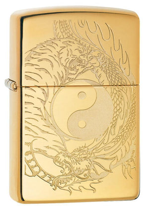 Zippo Lighter - Tiger and Dragon Design